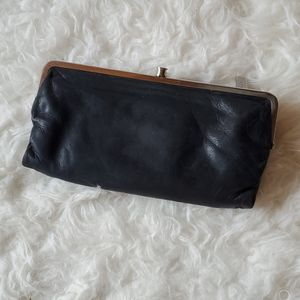 "HOBO ""Lauren"" Black Leather Wallet/Clutch"